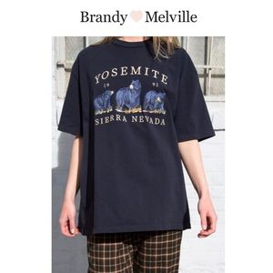 Brandy Melville Embroidered Tee